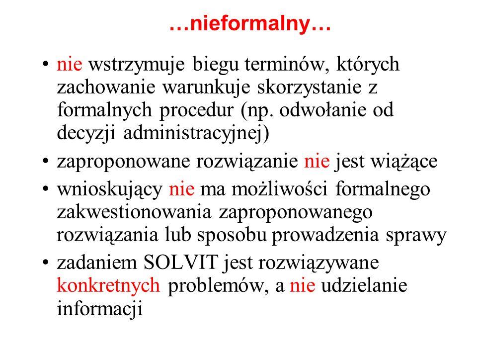 …nieformalny… nie wstrzymuje biegu terminów, których zachowanie warunkuje skorzystanie z formalnych procedur (np. odwołanie od decyzji administracyjne