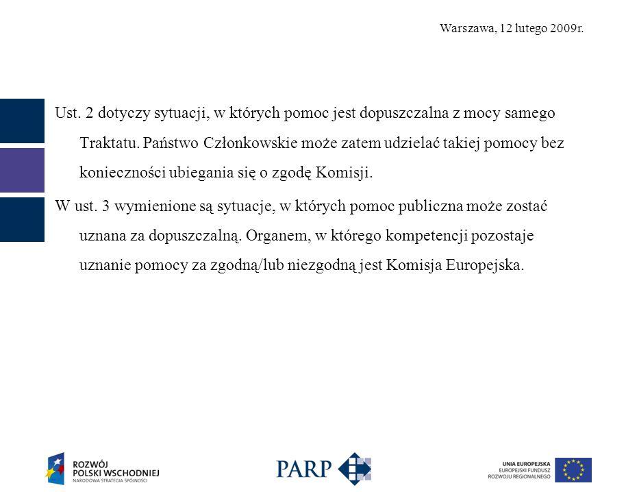 Warszawa, 12 lutego 2009r. Ust.