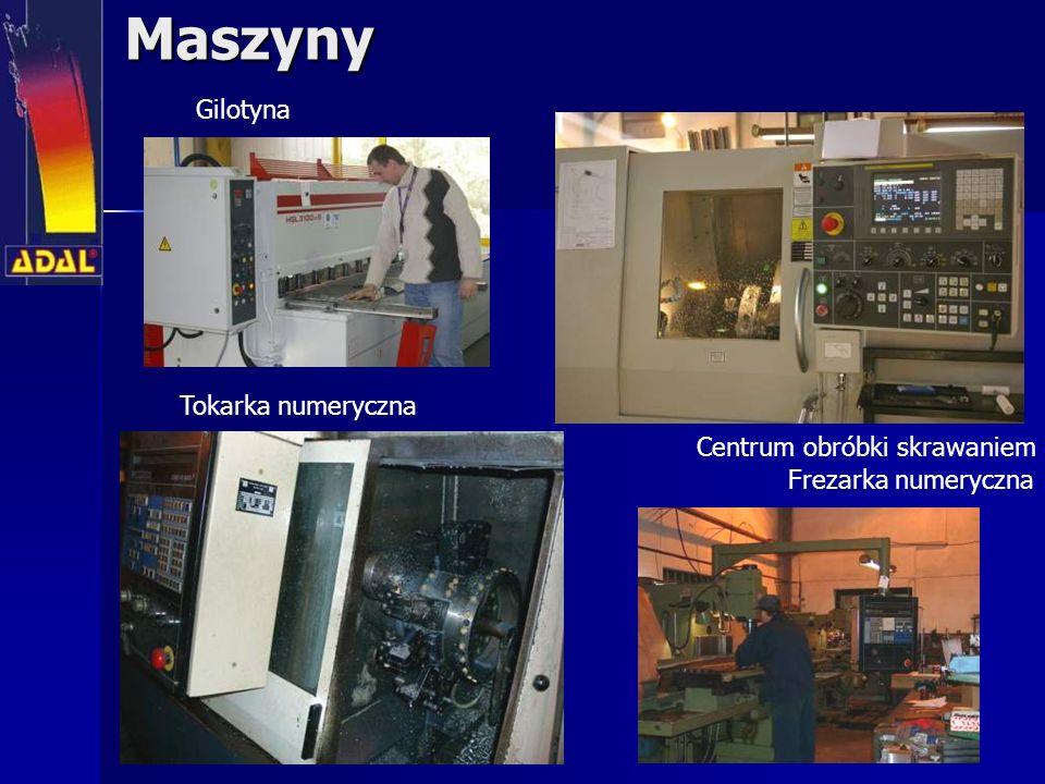 Maszyny Centrum obróbki skrawaniem Tokarka numeryczna Frezarka numeryczna Gilotyna