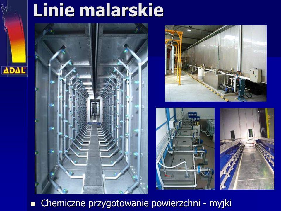 Linie malarskie Chemiczne przygotowanie powierzchni - myjki Chemiczne przygotowanie powierzchni - myjki