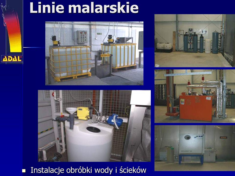 Linie malarskie Instalacje obróbki wody i ścieków Instalacje obróbki wody i ścieków