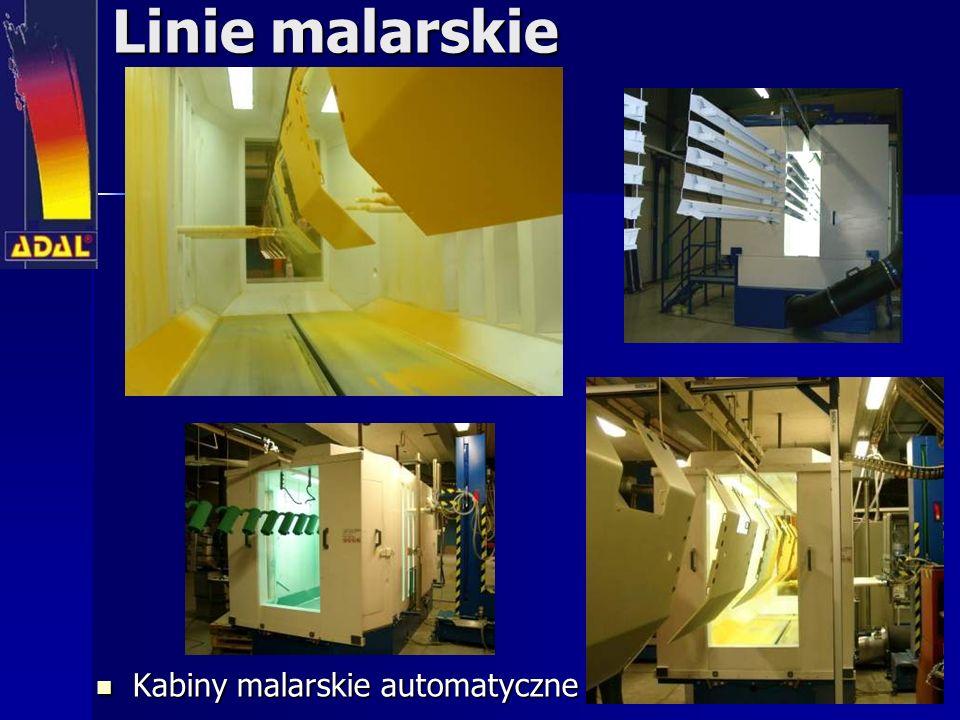 Linie malarskie Kabiny malarskie automatyczne Kabiny malarskie automatyczne