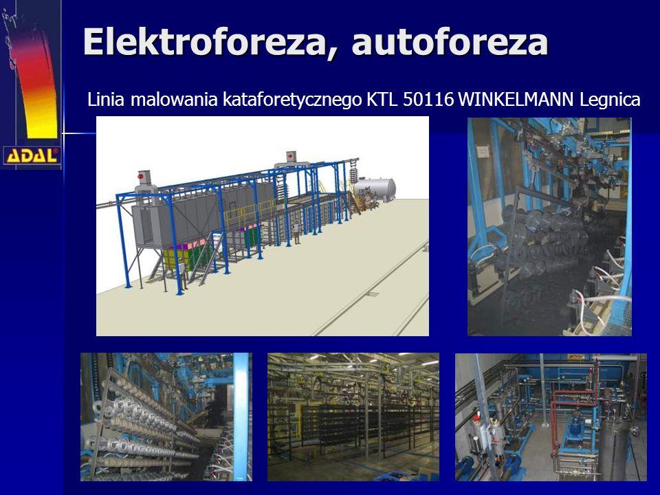 Elektroforeza, autoforeza Linia malowania kataforetycznego KTL 50116 WINKELMANN Legnica