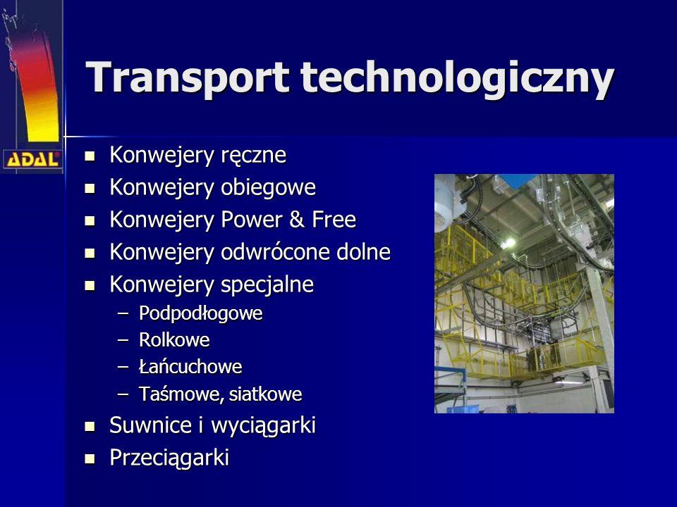 Transport technologiczny Konwejery ręczne Konwejery ręczne Konwejery obiegowe Konwejery obiegowe Konwejery Power & Free Konwejery Power & Free Konweje
