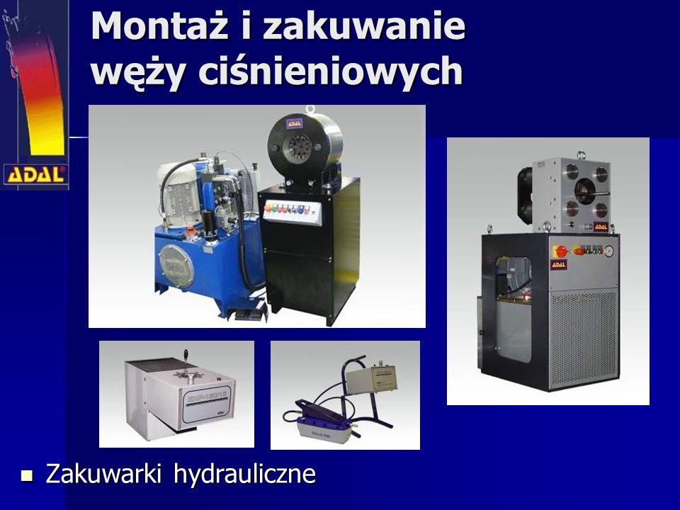 Montaż i zakuwanie węży ciśnieniowych Zakuwarki hydrauliczne Zakuwarki hydrauliczne