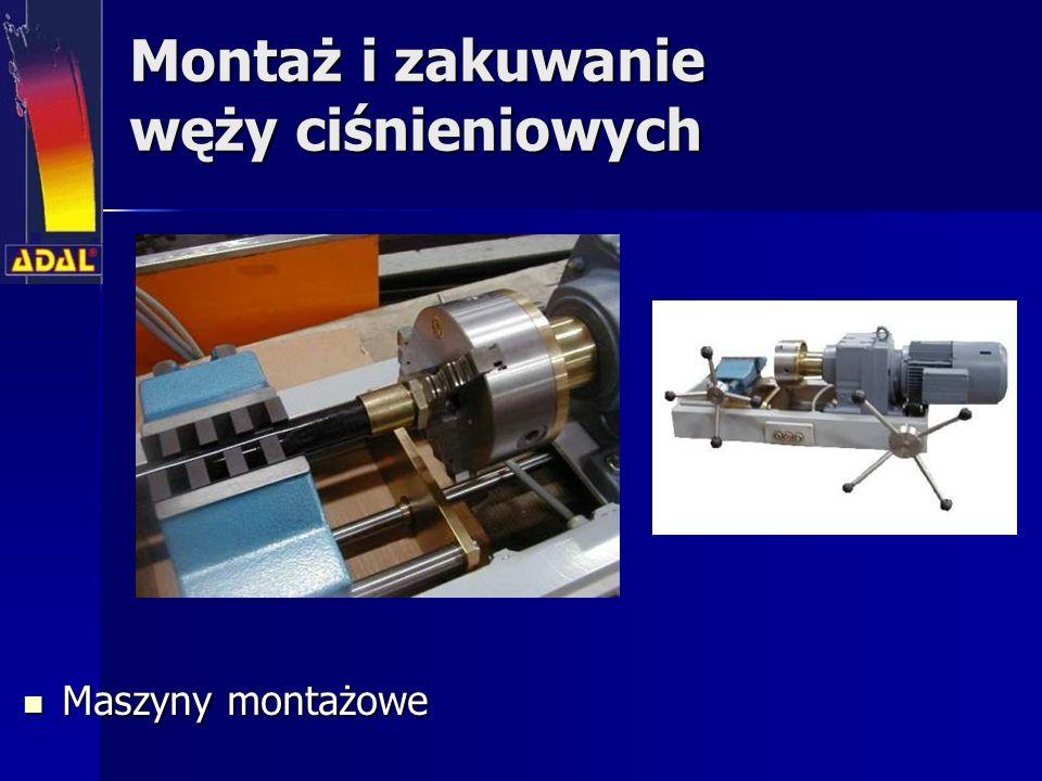 Montaż i zakuwanie węży ciśnieniowych Maszyny montażowe Maszyny montażowe