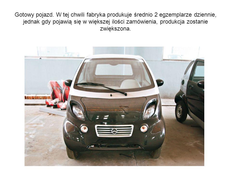 Gotowy pojazd. W tej chwili fabryka produkuje średnio 2 egzemplarze dziennie, jednak gdy pojawią się w większej ilości zamówienia, produkcja zostanie
