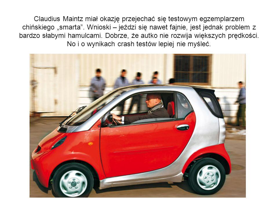 Claudius Maintz miał okazję przejechać się testowym egzemplarzem chińskiego smarta. Wnioski – jeździ się nawet fajnie, jest jednak problem z bardzo sł