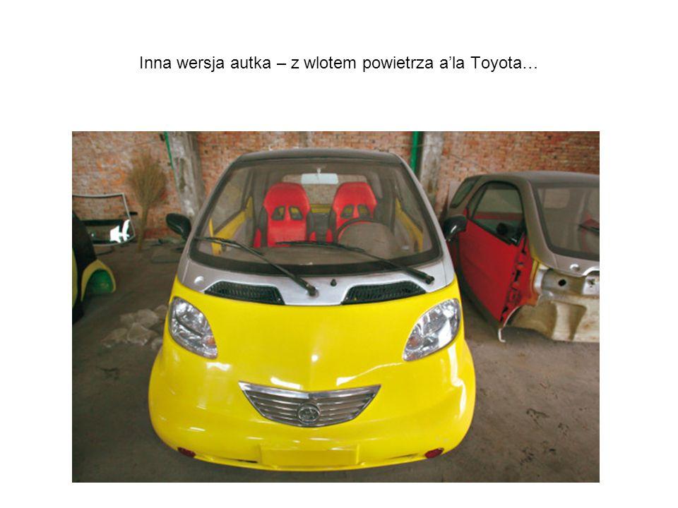 Inna wersja autka – z wlotem powietrza ala Toyota…