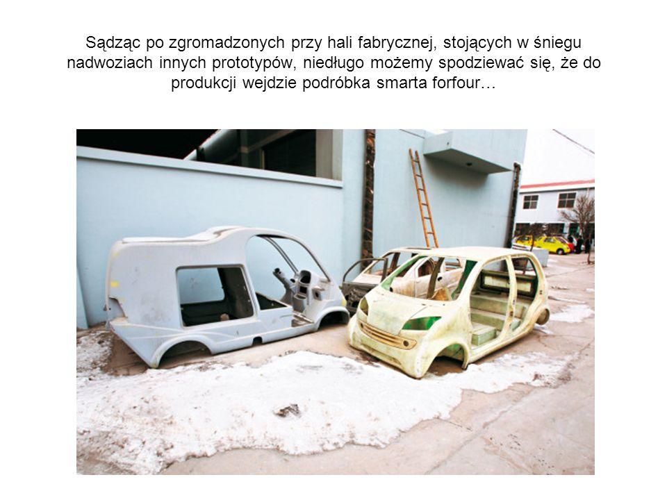 Sądząc po zgromadzonych przy hali fabrycznej, stojących w śniegu nadwoziach innych prototypów, niedługo możemy spodziewać się, że do produkcji wejdzie