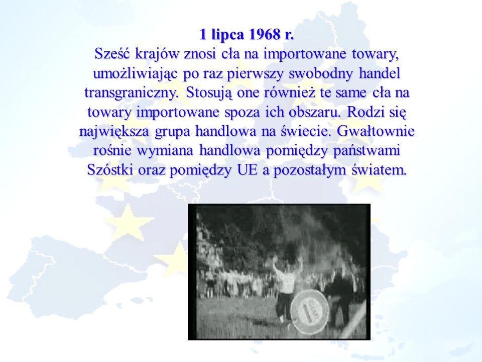 24 kwietnia 1972 r.Pierwszy plan UE wprowadzenia wspólnej waluty wywodzi się z 1970 r.