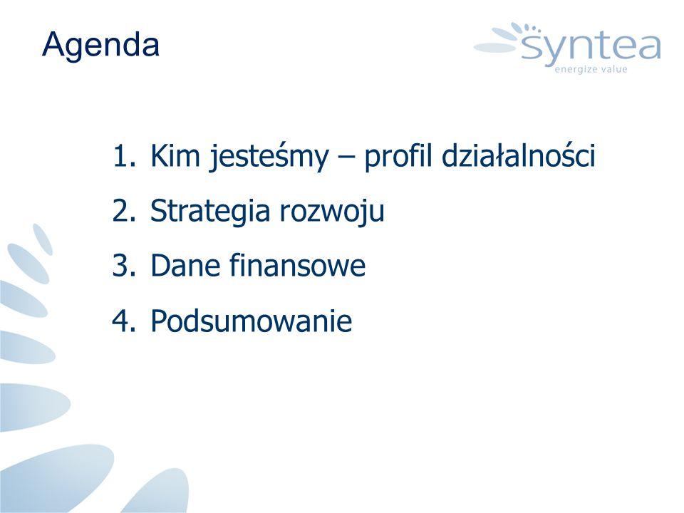 Agenda 1.Kim jesteśmy – profil działalności 2.Strategia rozwoju 3.Dane finansowe 4.Podsumowanie