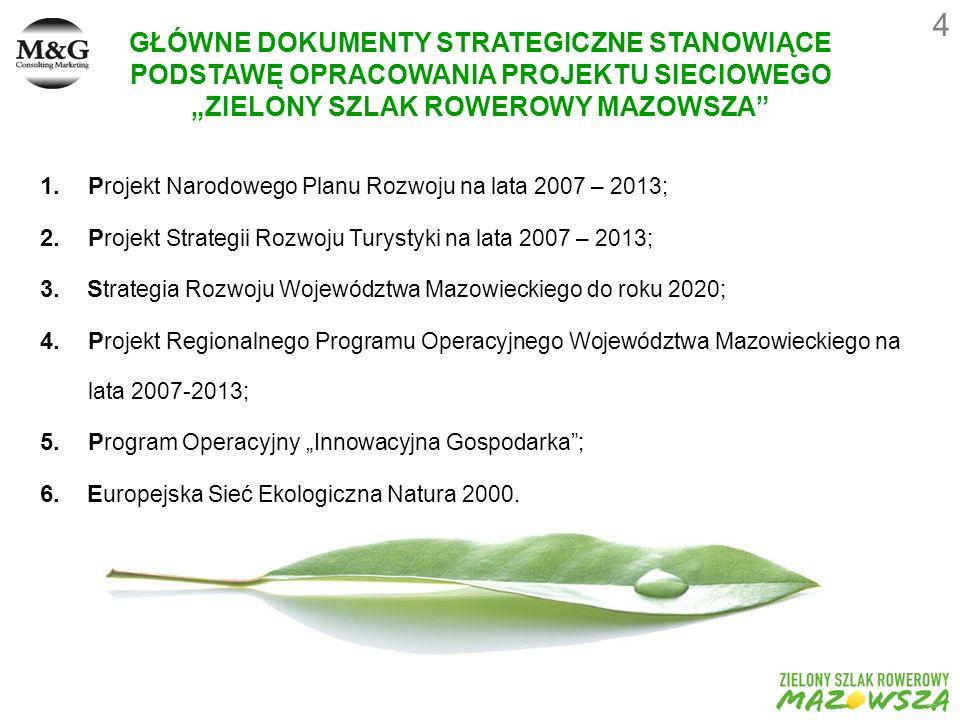 1.P rojekt Narodowego Planu Rozwoju na lata 2007 – 2013; 2.P rojekt Strategii Rozwoju Turystyki na lata 2007 – 2013; 3.