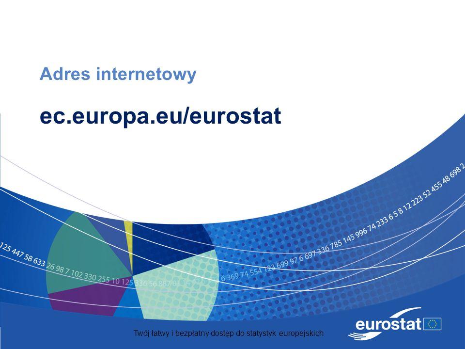 Twój łatwy i bezpłatny dostęp do statystyk europejskich Adres internetowy ec.europa.eu/eurostat