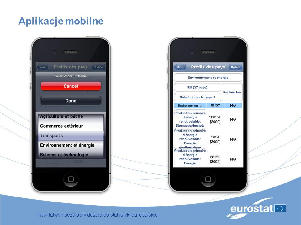 Twój łatwy i bezpłatny dostęp do statystyk europejskich Aplikacje mobilne