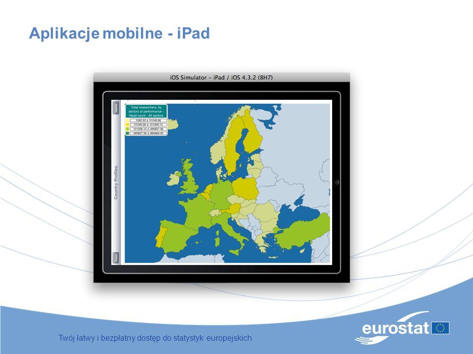 Twój łatwy i bezpłatny dostęp do statystyk europejskich Aplikacje mobilne - iPad