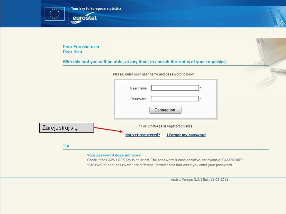 Twój łatwy i bezpłatny dostęp do statystyk europejskich Zarejestruj się
