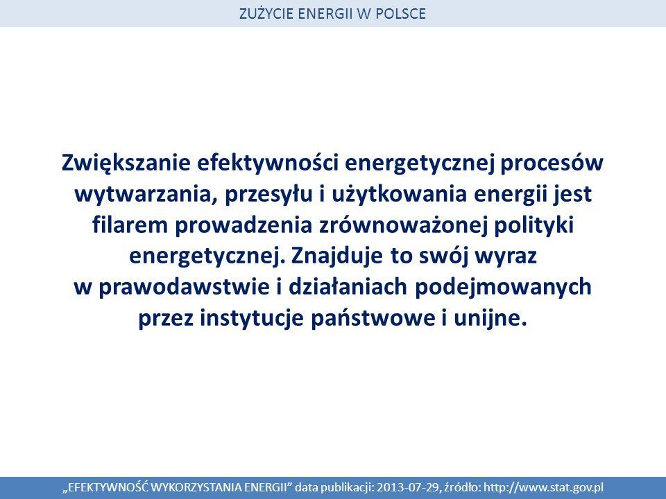 Zwiększanie efektywności energetycznej procesów wytwarzania, przesyłu i użytkowania energii jest filarem prowadzenia zrównoważonej polityki energetycz
