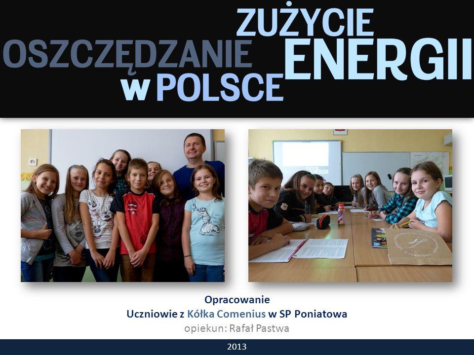 Opracowanie Uczniowie z Kółka Comenius w SP Poniatowa opiekun: Rafał Pastwa 2013