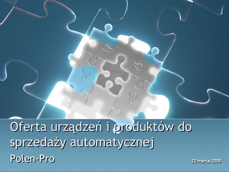 Oferta urządzeń i produktów do sprzedaży automatycznej Polen-Pro 20 marca 2008