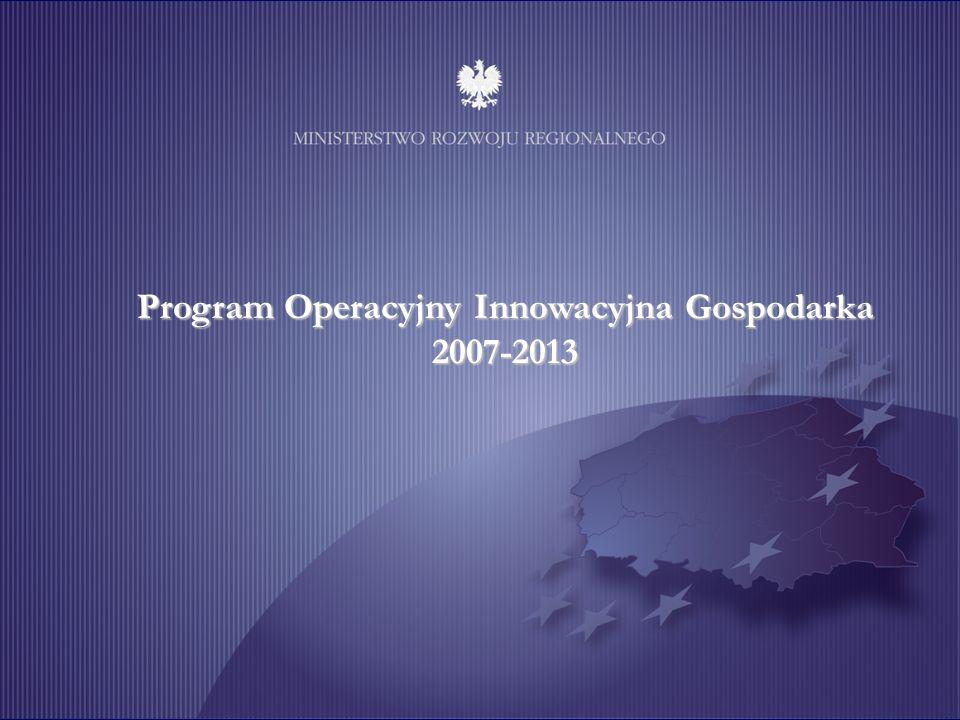 Unia Europejska Projekt współfinansowany ze środków Europejskiego Funduszu Rozwoju Regionalnego 6 Program Operacyjny Innowacyjna Gospodarka 2007-2013
