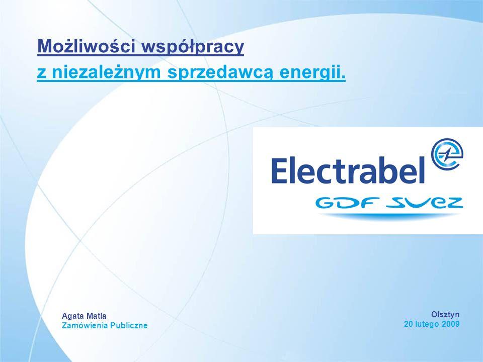 Olsztyn 20 lutego 2009 Agata Matla Zamówienia Publiczne Możliwości współpracy z niezależnym sprzedawcą energii.