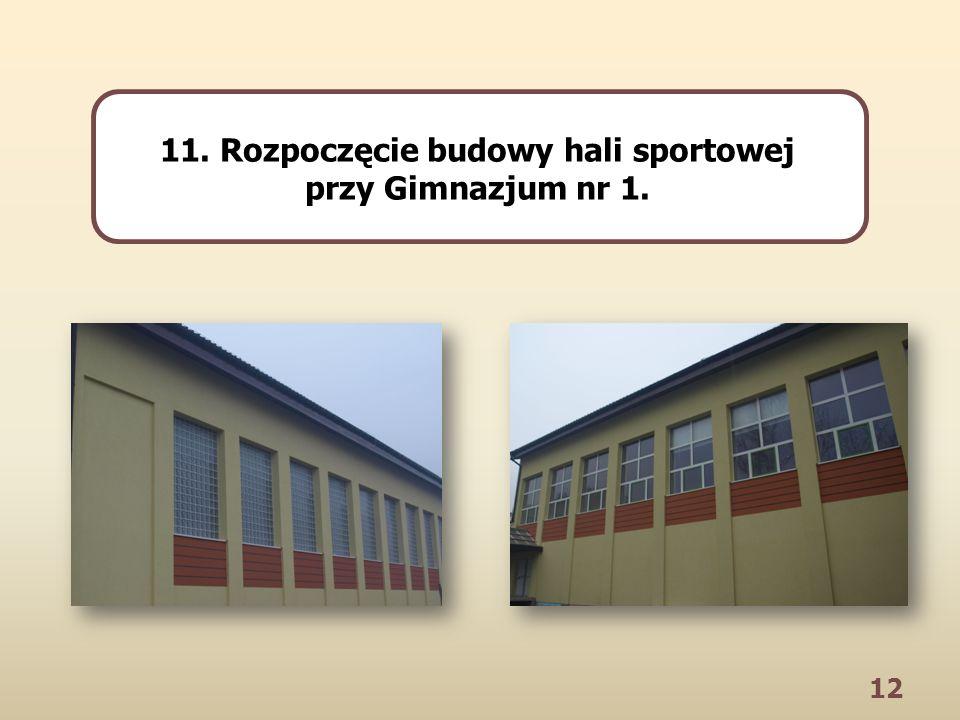 12 11. Rozpoczęcie budowy hali sportowej przy Gimnazjum nr 1.
