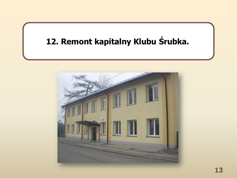 13 12. Remont kapitalny Klubu Śrubka.