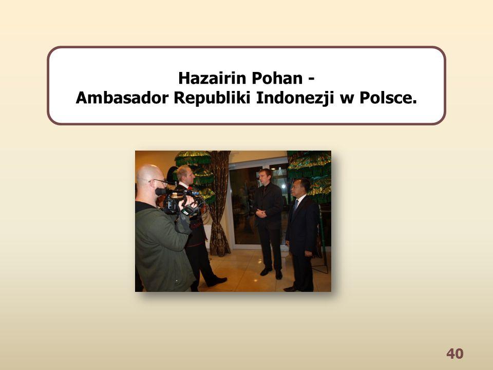 40 Hazairin Pohan - Ambasador Republiki Indonezji w Polsce.
