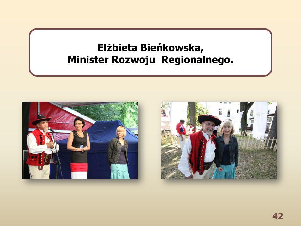 42 Elżbieta Bieńkowska, Minister Rozwoju Regionalnego.