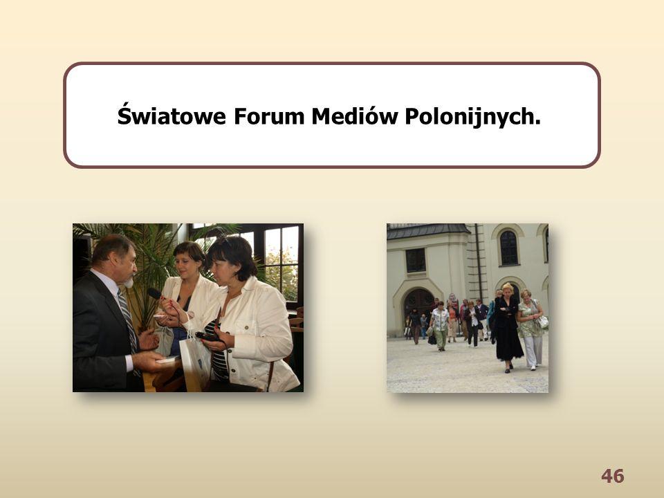 46 Światowe Forum Mediów Polonijnych.