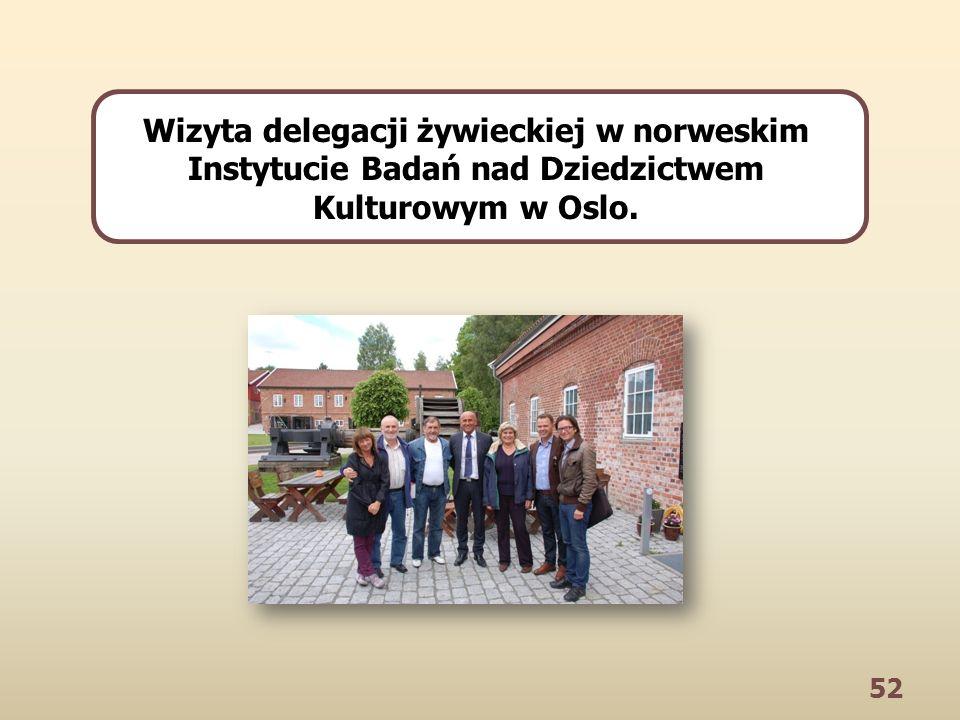 52 Wizyta delegacji żywieckiej w norweskim Instytucie Badań nad Dziedzictwem Kulturowym w Oslo.