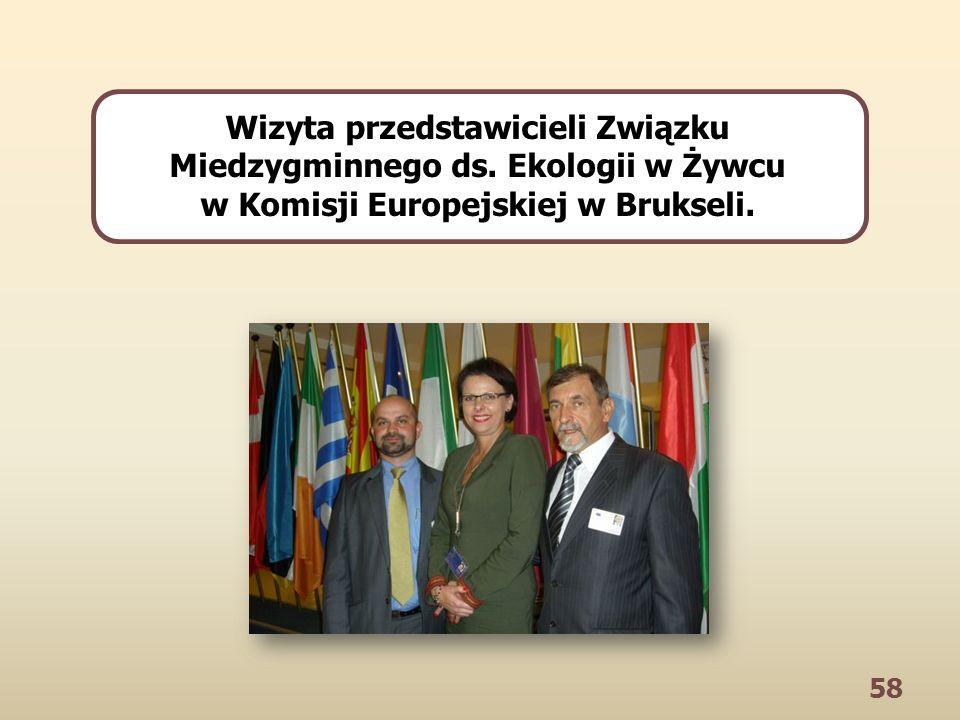 58 Wizyta przedstawicieli Związku Miedzygminnego ds. Ekologii w Żywcu w Komisji Europejskiej w Brukseli.