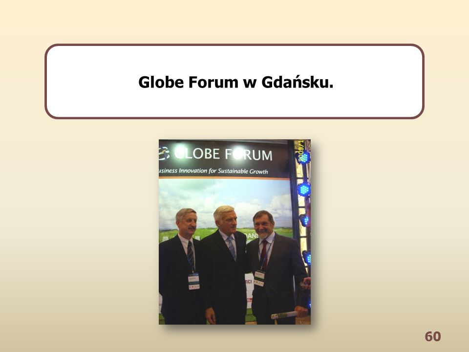 60 Globe Forum w Gdańsku.