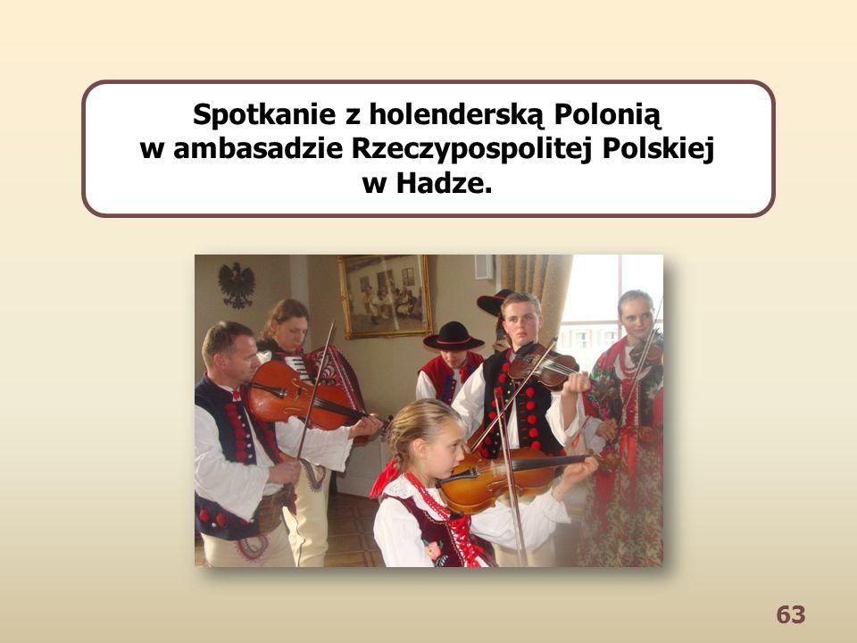 63 Spotkanie z holenderską Polonią w ambasadzie Rzeczypospolitej Polskiej w Hadze.