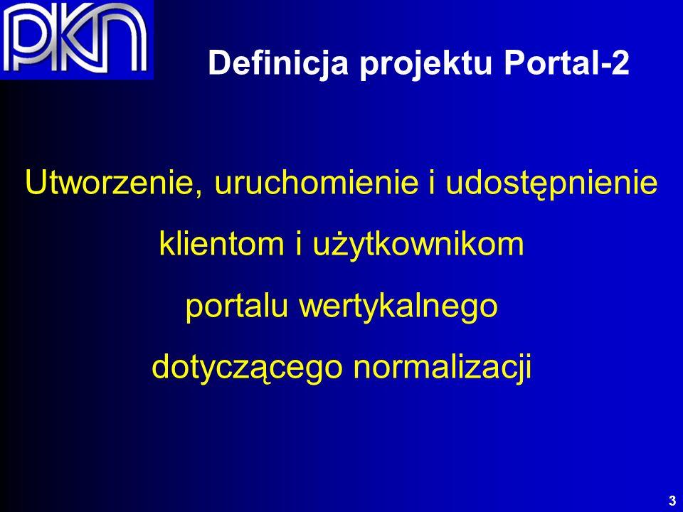 o Portal Polskiego Zasobu Normalizacyjnego o Wirtualizacja zasobów o System cyfrowej sprzedaży produktów i usług o Zarządzanie wiedzą normalizacyjną o e-Learning Portal-2 (2010 – 2013) 4