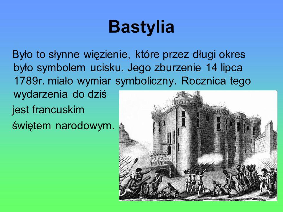 Bastylia Było to słynne więzienie, które przez długi okres było symbolem ucisku.