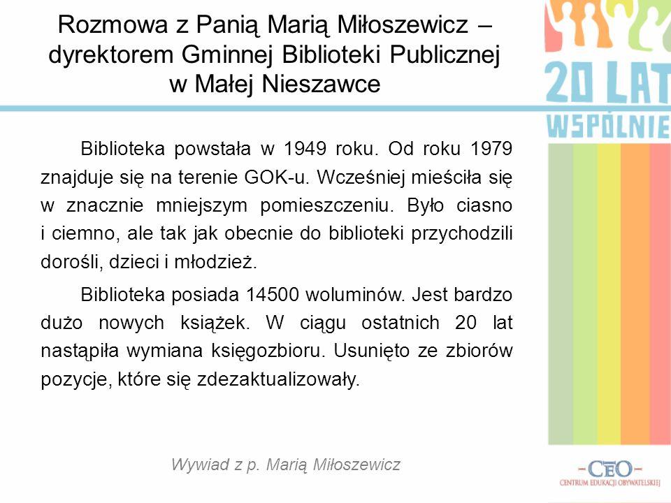 Gminna Biblioteka Publiczna w Małej Nieszawce p.