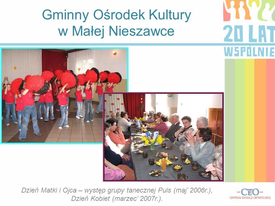 W GOK-u organizowane są również spektakle teatralne, seanse filmowe dla dzieci.