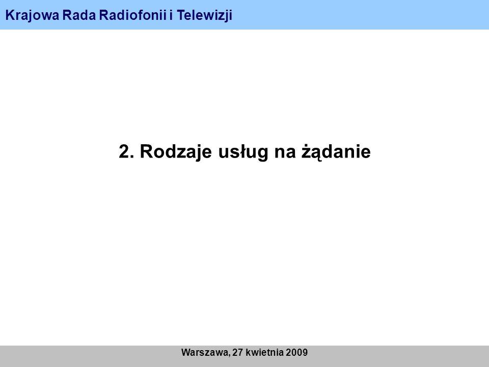 Krajowa Rada Radiofonii i Telewizji Warszawa, 27 kwietnia 2009 5. Przypadki graniczne