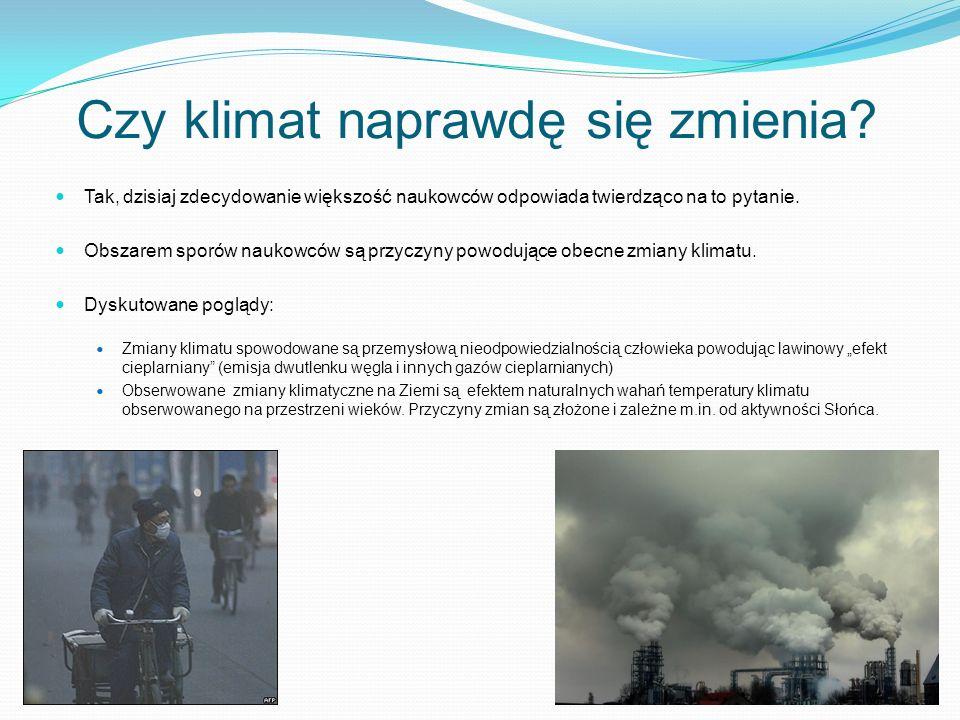 Obserwowany wzrost temperatury w Warszawie Średnie temperatury roczne rejestrowane w Warszawie przez przedsiębiorstwo energetyczne Vattenfall Heat Poland S.A