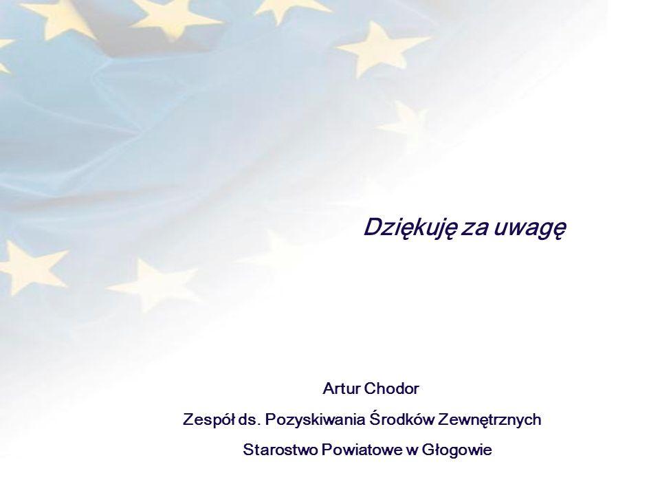 Projekt współfinansowany ze środków Unii Europejskiej w ramach Europejskiego Funduszu Społecznego i budżetu państwa Dziękuję za uwagę Artur Chodor Zes