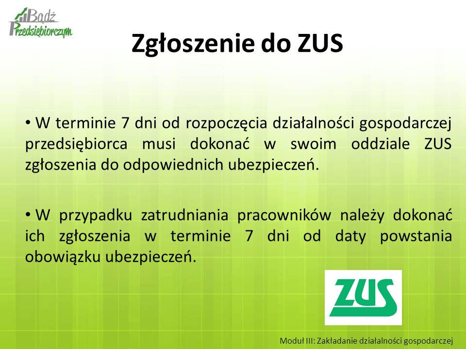 Jeżeli prowadzenie firmy jest jedynym zajęciem przedsiębiorcy wówczas składa on formularz ZUS ZUA (zgłoszenie do ubezpieczeń).
