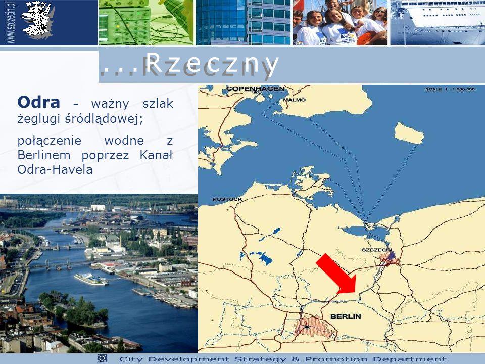 Odra – ważny szlak żeglugi śródlądowej; połączenie wodne z Berlinem poprzez Kanał Odra-Havela