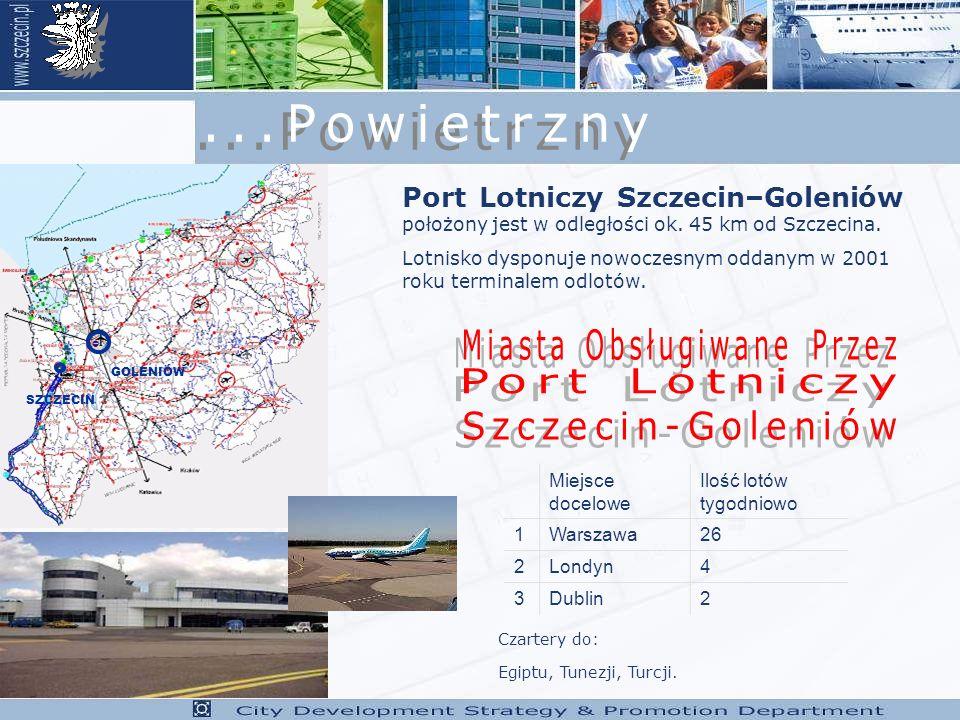 SZCZECIN GOLENIÓW Port Lotniczy Szczecin–Goleniów położony jest w odległości ok.