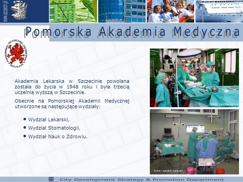 Akademia Lekarska w Szczecinie powołana została do życia w 1948 roku i była trzecią uczelnią wyższą w Szczecinie.