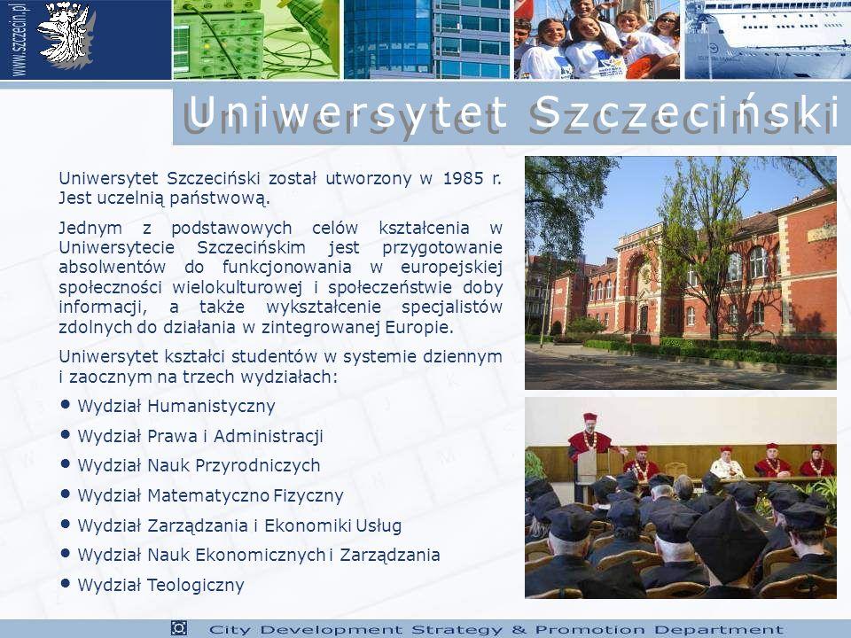 Uniwersytet Szczeciński został utworzony w 1985 r.
