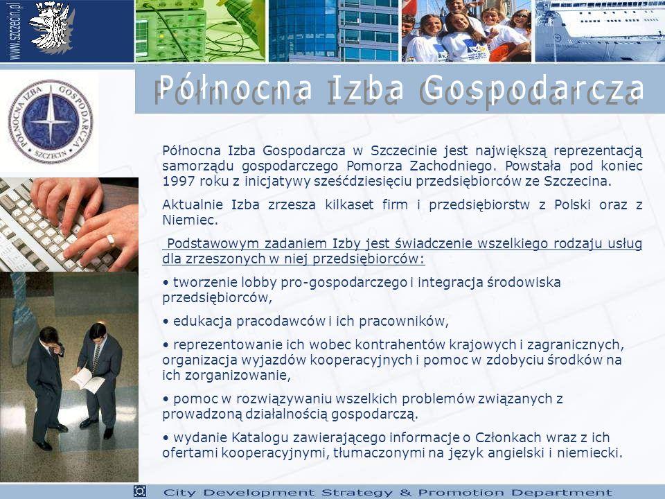 Północna Izba Gospodarcza w Szczecinie jest największą reprezentacją samorządu gospodarczego Pomorza Zachodniego.