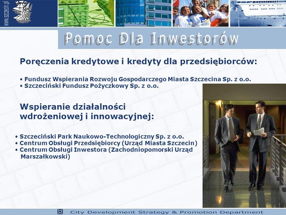 Poręczenia kredytowe i kredyty dla przedsiębiorców: Fundusz Wspierania Rozwoju Gospodarczego Miasta Szczecina Sp.