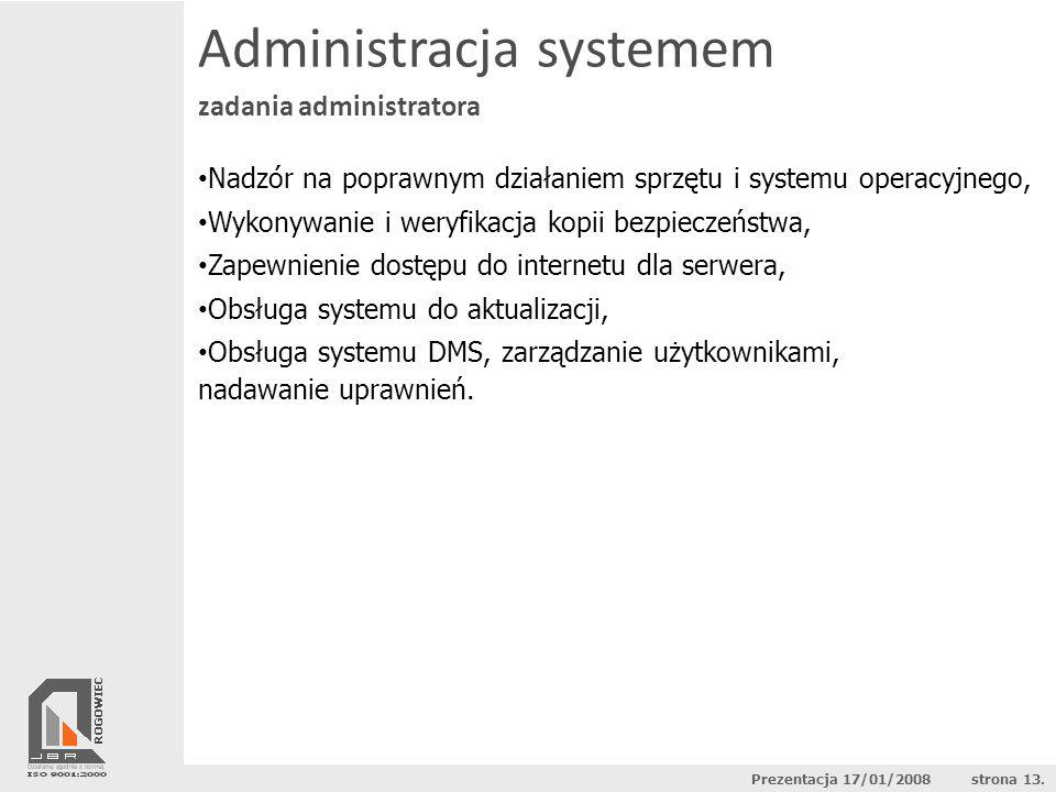 Administracja systemem zadania administratora Nadzór na poprawnym działaniem sprzętu i systemu operacyjnego, Wykonywanie i weryfikacja kopii bezpiecze